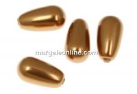 Perle Swarovski picatura, copper, 15x8mm - x2