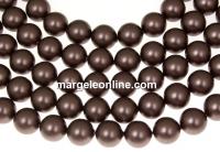 Perle Swarovski, brown velvet, 3mm - x100