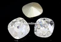 Swarovski, fancy square, crystal, 8mm - x1