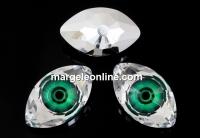 Swarovski, rivoli cabochon Eye, emerald, 18mm - x1