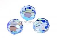 Swarovski, margele, fatetat, light sapphire shimmer, 8mm - x2