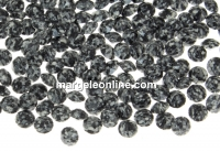 Swarovski, chaton PP18, marbled black, 2.5mm - x20