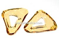 Swarovski, pandantiv cosmic triangle, golden shadow, 14mm - x1