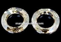 Swarovski, pandantiv cosmic ring, gold. sh. comet argent, 20mm - x1