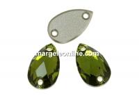 Swarovski, link picatura, olivine, 12x7mm - x1