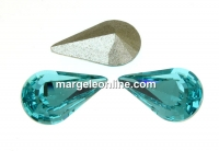 Swarovski, fancy rivoli Pear, light turquoise, 10mm - x2