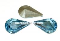 Swarovski, fancy rivoli Pear, aquamarine, 10mm - x2
