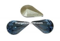 Swarovski, fancy rivoli Pear, denim blue, 10mm - x2