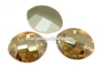 Swarovski, fancy rivoli, pure leaf, golden shadow, 10mm - x1