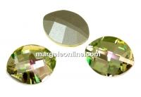 Swarovski, fancy rivoli, pure leaf, luminous green, 14mm - x1