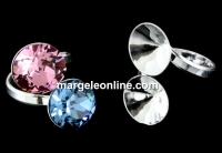 Baza inel, argint 925, 2 chatoane de 10mm - x1