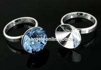 Baza inel argint 925, chaton 10mm, interior 17.1mm - x1