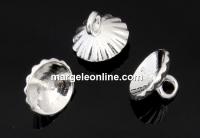 Baza pandantiv pentru perle, argint 925, cupa cu pin, 7x6mm - x1