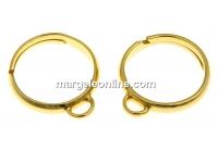 Baza inel cu o bucla, argint 925 placat cu aur, reglabil - x1