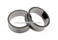 Baza inel suport cristale, ag 925 pl. cu rodiu negru, interior 16.6mm - x1