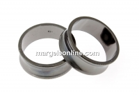 Baza inel suport cristale, ag 925 pl. cu rodiu negru, interior 17mm - x1