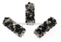 Swarovski, margele rocks, comet argent jet, 15x6mm - x1