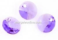 Swarovski, pandantiv rivoli, provence lavender, 6mm - x10