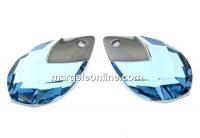 Swarovski, pandantiv picatura, aquamarine lt. chrome, 22mm - x1