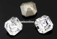 Swarovski, chaton imperial square, crystal, 10mm - x1