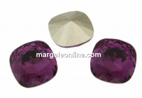 Swarovski, fancy square, amethyst, 10mm - x1