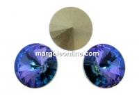 Swarovski, rivoli, aquamarine vitrail light, 8mm - x2