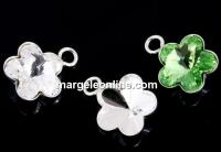 Sistem prindere pandantiv argint 925, rivoli floare 6mm - x2