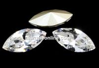 Swarovski navette, fancy chaton, crystal, 8mm - x4