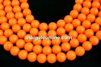 Perle Swarovski, neon orange, 2mm - x100