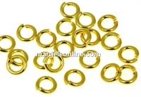 Zale dure nesudate argint 925 placat cu aur, 4.9x1mm - x5