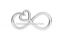 Link infinit cu inimioara, argint 925, 16mm - x1