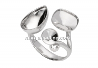 Baza inel Elegance, argint 925, reglabila   - x1