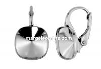 Tortite argint 925 patrat click pt Swarovski 4470 de 10mm - x1per