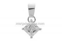 Pandantiv cu cristal, argint 925, 22x12mm - x1