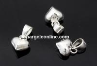 Pandantiv inima, argint 925, 14x8mm  - x1