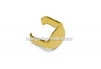 Sistem fixare linkuri, argint 925 placat cu aur, 5.5mm - x4