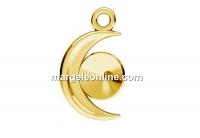 Baza pandantiv argint 925 placat cu aur, luna, pentru rivoli 6mm - x1