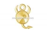 Baza pandantiv ag925 pl cu aur, dracusor, pentru rivoli 6mm - x2