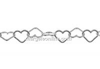 Lant metraj argint 925, zale inima, 50cm - x1