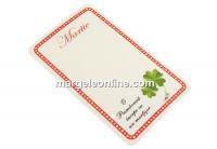 Carton martisor, trifoi, 9x5.4cm- x50