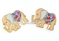 Brosa metalica martisor traditional, elefant - x2