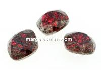 Swarovski, fancy square, scarlet black patina, 12mm - x1