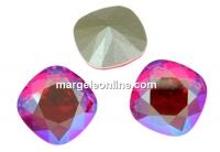 Swarovski, fancy square, light siam shimmer, 10mm - x1