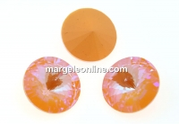 Swarovski, rivoli, peach DeLite, 14mm - x1