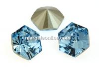 Swarovski, fancy Kaleidoscope hexagon, aquamarine, 9.4mm - x1