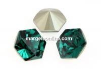 Swarovski, fancy Kaleidoscope hexagon, emerald, 9.4mm - x1