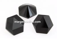 Swarovski, fancy Kaleidoscope hexagon, jet, 14mm - x1