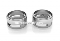 Link pentru rivoli sau chaton 6mm, argint 925 placat cu rodiu, 7mm - x1