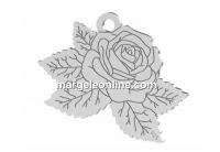 Pandantiv trandafir, argint 925, 20x14mm - x1