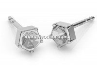 Baza cercei argint 925, chaton 3mm - x1per